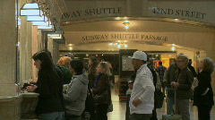 Stock Video Footage of Customers at ticket booths in Grand Central (4 of 5)