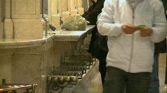 Customers at ticket booths in Grand Central (3 of 5) - stock footage