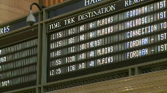 Metro North Schedule (1 of 2) - stock footage