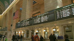 Metro North Schedule (2 of 2) - stock footage