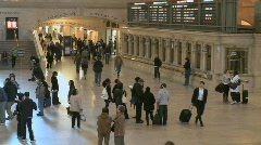 Crowds mill around at Grand Central Station - stock footage