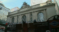 Wide shot of Grand Central Station Stock Footage