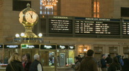 Stock Video Footage of A typical day at Grand Central Station (1 of 2)