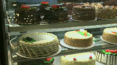 An array of cakes (1 of 2) - stock footage