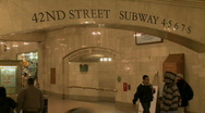 Entrance to subway (3 of 4) Stock Footage