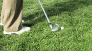 Stock Video Footage of Golf chip shot out of rough grass 3