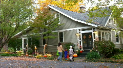 Trick or Treat 402 - stock footage