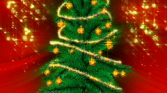 christmas green tree - stock footage