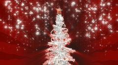 Christmas silver tree Stock Footage