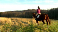 Woman with Horse 420 Stock Footage