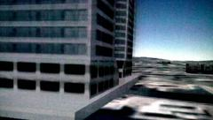 Arial shot of capita buildings and big city buildings Stock Footage
