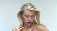 Stock Video Footage of HD1080i Sexy young blond woman looking