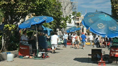 Mazatlan street venders P HD 4764 Stock Footage