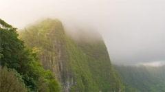 Nu'uanu Pali Mountain Overlook 480x270 Stock Footage