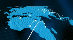 World map graphic network HD - stock footage