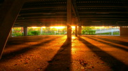 Stock Video Footage of Underground parking sunset lights hdr motion time lapse