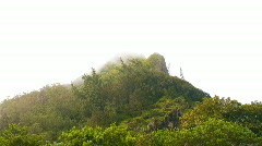 Nu'uanu Pali Mountain Peak HD Stock Footage