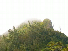 Nu'uanu Pali Mountain Peak 320x240 Stock Footage