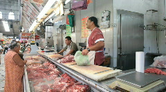 Meat market counter Mexico P HD 4791 Stock Footage