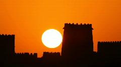 arabian sunrise huge sun - stock footage