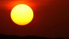 sunet with huge sun 720p - stock footage