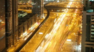 Dubai skyline night timelapse Stock Footage
