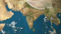 Stock Video Footage of Earth Zoom to India