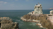 Stock Video Footage of Mazatlan cliff dive ready fast P HD 4819