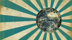 Earth and Beam. Retro, damage. Stock Footage