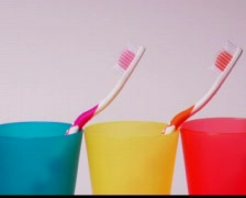 Toothbrushes Stock Footage