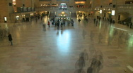 Stock Video Footage of Grand Central time lapse 1 w/ motion blur