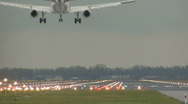 Stock Video Footage of airplane landing on airport
