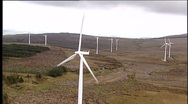 Aerial turbine Stock Footage