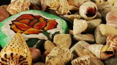 Rotatory sea-shells loop Stock Footage