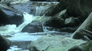 Water Over Rocks Stock Footage