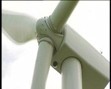 Wind turbine nacelle and blades Stock Footage