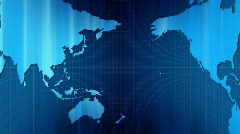 Cylindrical panoramic movement of world map. Loop. Stock Footage