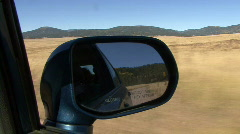 Dirt Road Rearview Mirror Stock Footage