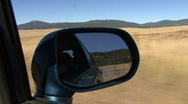 Stock Video Footage of Dirt Road Rearview Mirror