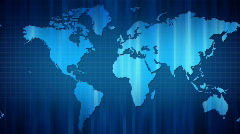 Panoramic movement of world map. From left to right. Loop Stock Footage