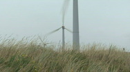 Stock Video Footage of windmill turning fast, making electricity