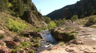 The Soda Dam In The Jemez Mountains Stock Footage