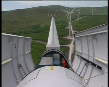Turbine power on Stock Footage