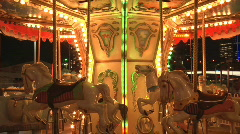 Carousel in Timelapse - Low - stock footage