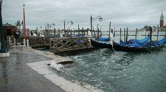 Gondolas - Venice - Venedig Stock Footage