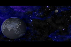 Distant earth and planets animation Stock Footage