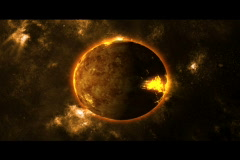 planet destruction-The end - stock footage