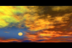 reddish clouds in slow sky - stock footage