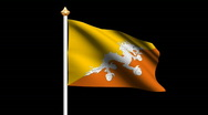 Stock Video Footage of Bhutan flag
