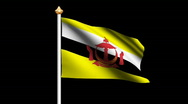 Stock Video Footage of Brunei Darussalam flag